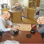 囲碁で対決